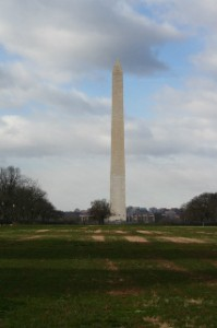 Across the Mall looking in the other direction - Washington Monument
