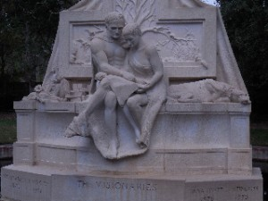 Sculpture of Archer and Anna