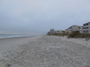 A view southward on Surfside Beach