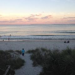 Sunset walks on the beach...